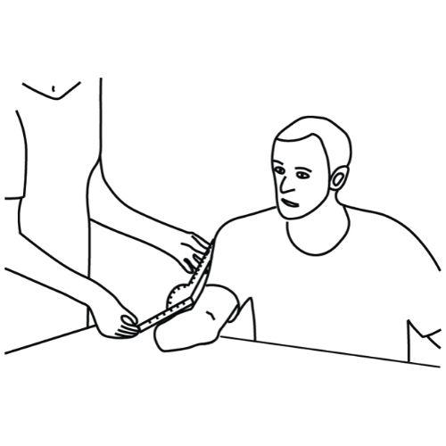 step 1: measure parameters of the patient's arm